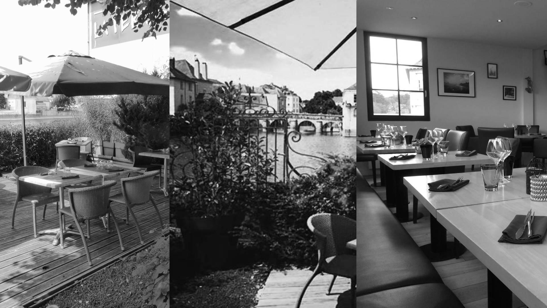 notre restaurant noir et blanc
